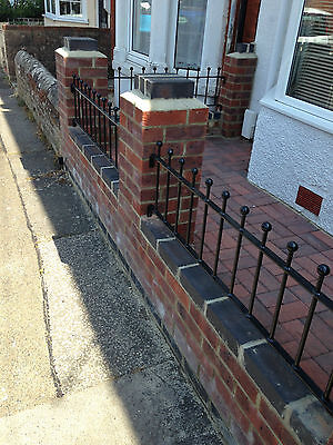 """12"""" High Wrought Iron Metal Fencing/railings Panel Type S12"""