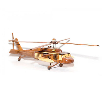 May bay UH-1 Bell Huey helicopter Mahogany Scale Replica model