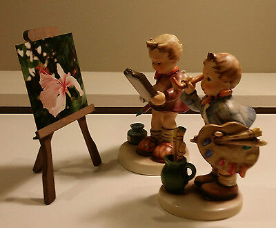 Rare Collector's Hummel The Artist w Easel #304 w Box + Hummel Goebel The Art Cr