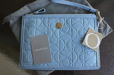 (OROTON) BNWT; Outline Zip Wallet Pouch Case Clutch Leather