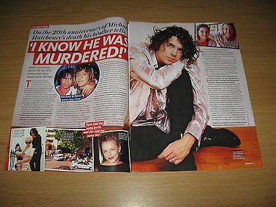MICHAEL HUTCHENCE - 2 page magazine clipping - INXS