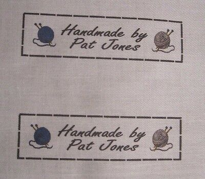 Uncut Blanket / Knitting Labels - personalised fabric labels, tags - 12 Labels