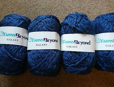 Super Chunky Knitting Wool In Blue Mix Colours 4X100G