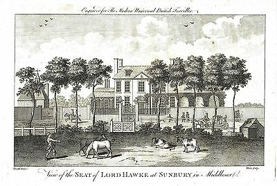 Sunbury, Middlesex (Seat of Admiral of the Fleet, Edward Hawke) Eng.  c1785