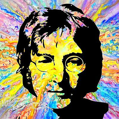 Recreated From Original Painting Textured Large Signed Art Wall Deco John Lennon
