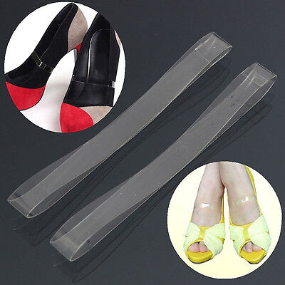 1 Pair Clear Invisible Shoe Strap Band for Holding Loose Shoes Dancing High Heel
