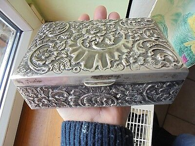 antic box  argent massif  egypte , egyptian solid silver. 339 Grammes. iznik