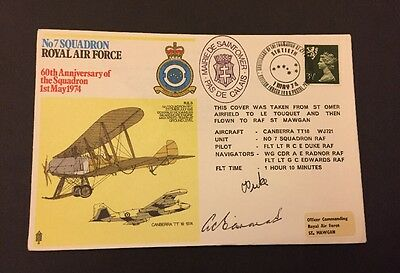 1/5/1974 GB FDC - Royal Air Force No 7 Squadron Signed