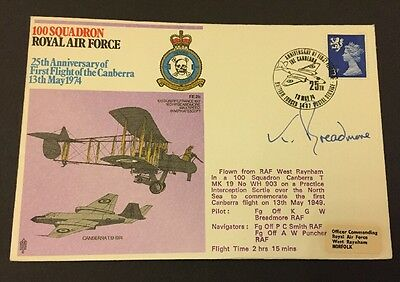 13/5/1974 UK FDC - Royal Air Force No 100  Squadron Signed