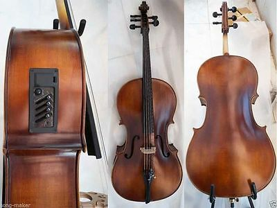 5 string Cello 4/4 New Electric Acoustic Cello Nice Sound Solid ebony parts #1