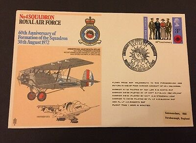 FDC 60th Anniversary 4 Squadron Formation RAF Flown In Harrier