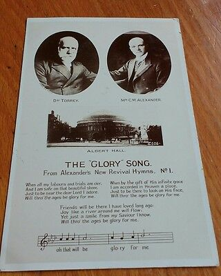 1906 Postcard - THE GLORY SONG - ALEXANDER'S NEW REVIVAL HYMN