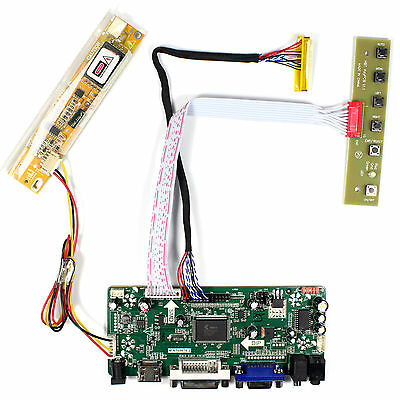 HDMI DVI VGA Audio LCD controller board for 15.6inch 1366x768 1CCFL lcd panel