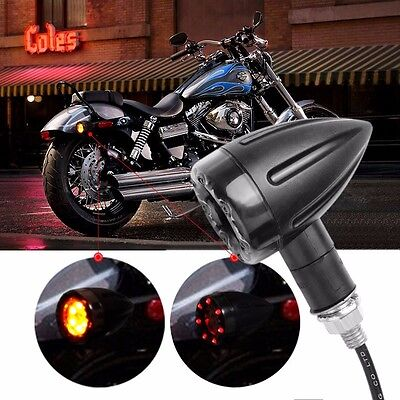 Motorcycle Turn Signal Light,Tail & Brake Stop Lights 12V 13LED  Amber And Red.