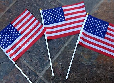 3 AMERICA FLAGS USA / AMERICAN SMALL HAND WAVING FLAG Display sports Party