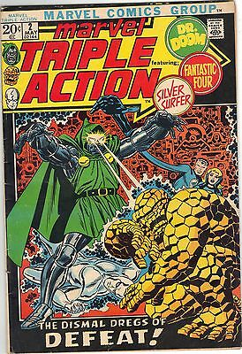 MARVEL TRIPLE ACTION No.2 May 1972 Price Inc Del in UK