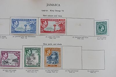 Jamaica, mint stamps on album page (lot 290)