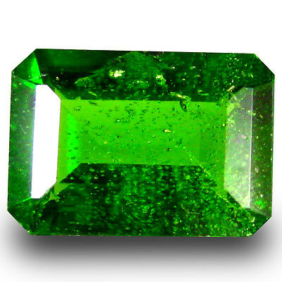0.91 ct  Outstanding Octagon Shape (7 x 5 mm) Green Chrome Diopside Gemstone