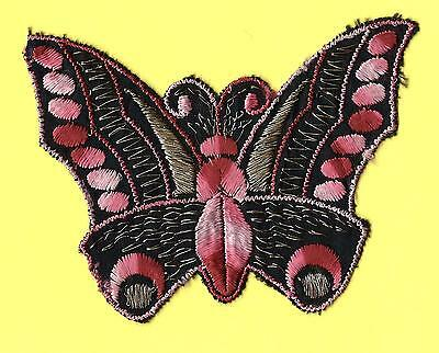 Turmac Tobacco Cigarette embroidery appliques silk Butterflies Med B65 Silks 1