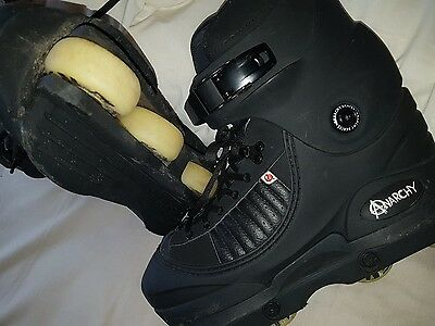 Anarchy Adult Size 8 In Line Roller Skate Boots