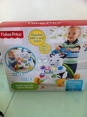 Fisher Price Learn With Me Zebra Walker With Lights And Music Brand New