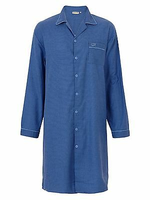Mens Nightshirt, 100% Brushed Cotton Twill. Sizes Med - 3XL. Premium Quality