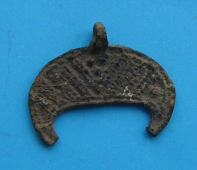 Ancient Bronze Casting Pendant In Form of MOON !!!