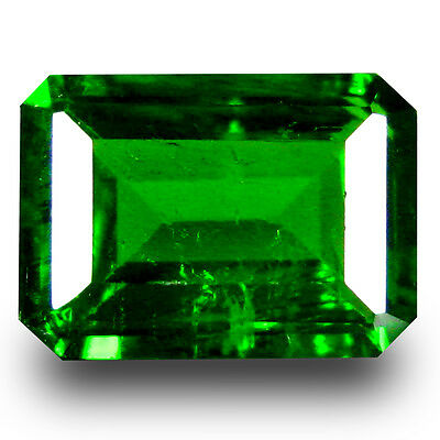 1.11 ct  Remarkable Octagon Shape (7 x 5 mm) Green Chrome Diopside Gemstone