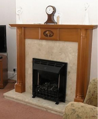 Fire surround solid marble and wood - used but excellent condition
