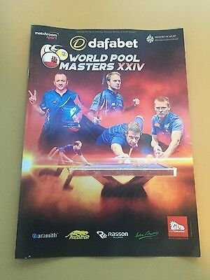 World Pool Masters XXIV Gibraltar Programme and workers pass