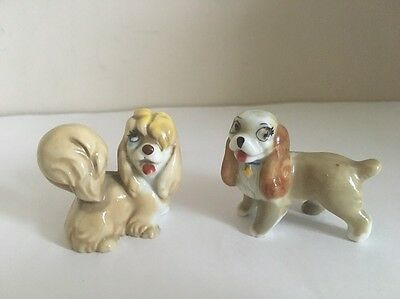 Wade whimsies Lady & Peg Dog Disney Lady & The Tramp Figures Ornament