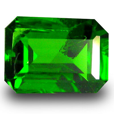 0.95 ct  Attractive Octagon Shape (7 x 5 mm) Green Chrome Diopside Gemstone
