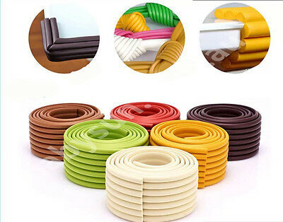 2M Table Edge Corner Soft Foam Protector Cushion For Baby Kids Safety 10 Colours