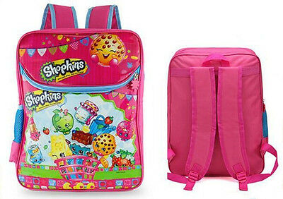 "New 16"" Shopkins Girls Pink Cute School Bag Backpack Rucksack Travel Bag scbag90"