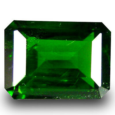 1.09 ct  Significant Octagon Shape (7 x 5 mm) Green Chrome Diopside Gemstone