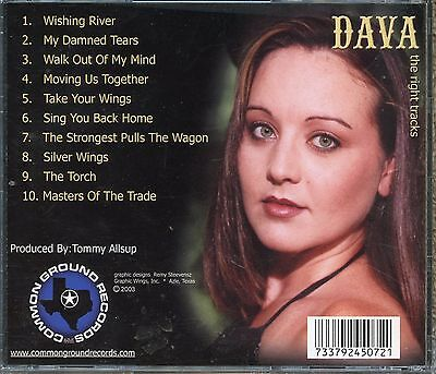 DAVA (PHELPS), produced by TOMMY ALLSUP, SUPER RARE, c & w AUTOGRAPHED cd