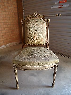 19th Century French Tapestry Chair