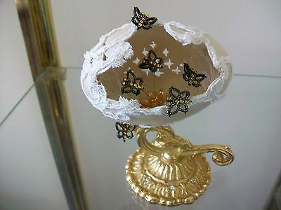 Hand decorated real goose egg collector egg