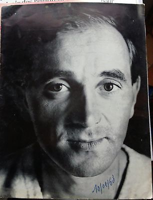 Charles Aznavour programme Olympia 1963