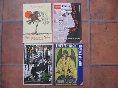 4 Theatre Programmes : The Royal Exchange Theatre Company : 1978 + 1980's