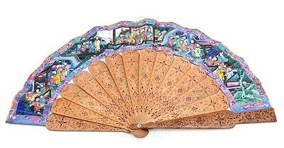 1000 FACES FAN With sandalwood sticks, 19TH CENTURY