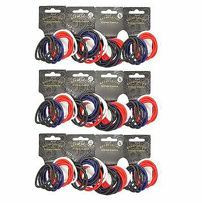 144  x Thick Spectator Coloured Endless Snag Free Hair Elastics/ Bobbles/ Ponios