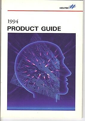 Vintage 1994 HOLTEK Microelectronics Product Guide-Encoders/Telephone/Peripheral