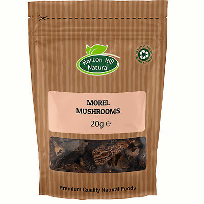 Dried Morel Mushrooms 20g - Free UK Delivery -