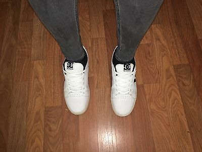 White/Black DC Skate Shoes Men's Sz. 11