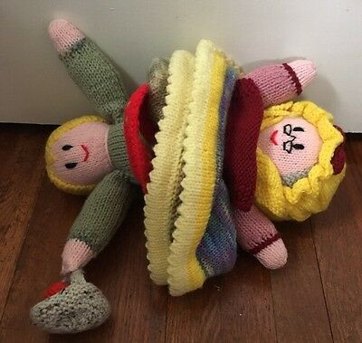 Hand Knitted Topsy Turvy Doll Jean Greenhowe Fairy Tail Characters