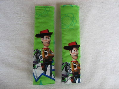 Seat Belt Covers Handmade  - Padded - Toy Story - Set of Two (2)