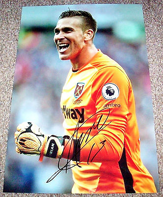 ADRIAN WEST HAM UNITED HAND SIGNED PHOTO AUTHENTIC GENUINE + COA - 12x8