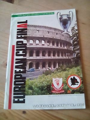 Liverpool v AS Roma European Cup Final Programme 1984
