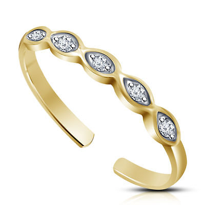 Infinity Toe Ring 14K Gold FN .925 Sterling Silver Beach Adjustable Jewelry Gift